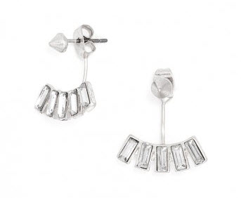 Crystal Baguette Ear Jackets