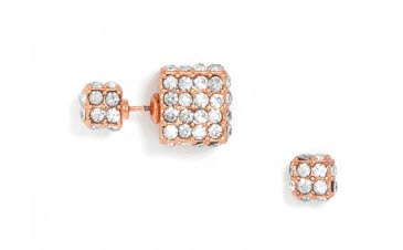 Pave Cube 360 Studs Earrings
